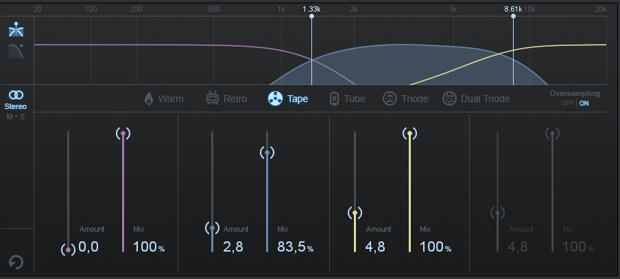 iZotope Ozone 7 Exciter for Snare Drum
